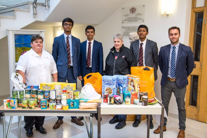 Pupils Donate To The Salvation Army Food Bank City Of